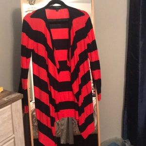 The Limited Striped open cardigan XS